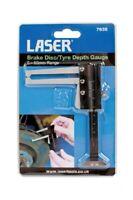 Laser Tools 7635 Brake Disc Tyre Depth Gauge - Locking screw To Retain Reading