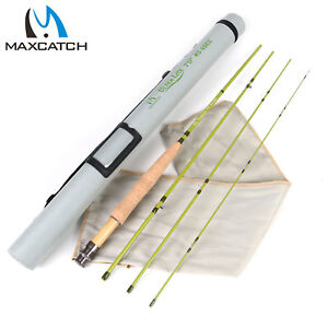 """Maxcatch 1/2/3WT Fly Fishing Rod 6'/6'6""""/7'/7'6"""" For Small Streams Panfish/Trout"""