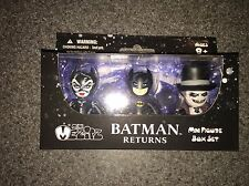 NIB MINI MEZITZ BATMAN RETURNS MINI FIGURE BOX SET CATWOMAN PENGUIN BATMAN