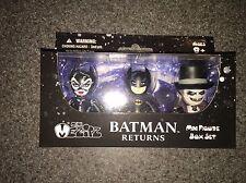NIB MINI MEZITZ BATMAN RETURNS MINI FIGURE BOX SET CATWOMAN PENGUIN BATMAN