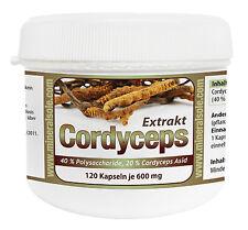 Cordyceps sinensis Estratto (40% Polysacch 20% Asid) 120 Capsula per 600mg