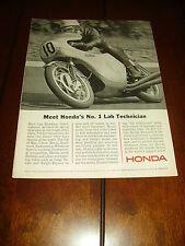 1966 HONDA GRAND PRIX 350cc RACE BIKE - CAFE RACER  ***ORGINAL VINTAGE AD***