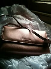 LK Bennett new unused Leather Designer pink metalic shoulder bag 20.5cm x 11.5cm