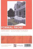 Landscape Plans Formal Front Entry Courtyard Paver Layout Landworks Design DIY