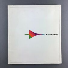 BAC AEROSPATIALE CONCORDE MANUFACTURERS BROCHURE GREAT PICTURES SEAT MAP 1973