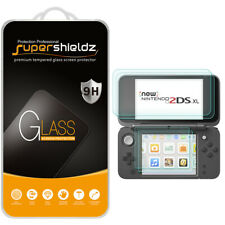 Tempered Glass Screen Protector (2xTop Glass + 2xBottom PET) for Nintendo 2DS XL