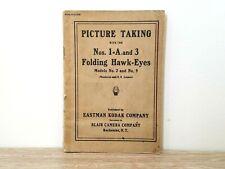 Rare! 1914 Kodak Nos. 1a & 3 Folding Hawkeye camera manual instructions book 2&9