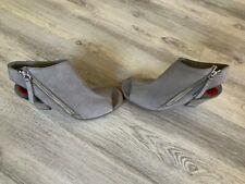 PAUL GREEN Peep Toe Sandal BOOTIE Gray SUEDE 6 AU 3.5