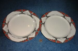 Crown Ducal Orange Tree  Two super 10 inch Dinner plates