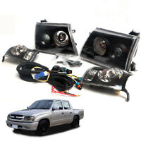 For 2001+ Toyota Hilux SR5 D4D MK4 Head Lamp light Corner Lamp Unit 1 set Black