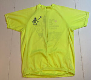 Bontrager Volt Lime Green/Yellow Cycling Jersey Men's Sz Large - Bicycles 101
