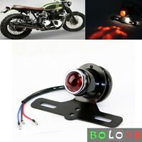 1x Shotgun-Style Motorcycle Tail Light w/License Plate Bracket+Lamp For Harley