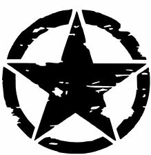 Army Star distressed decal fits Jeep large Vinyl military hood graphic body