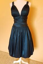 ISSUE WOMENS ELEGANT PARTY SZ 8 DARK GREEN EMPIRE HALTER COCKTAIL DRESS PROM