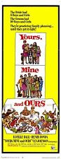 YOURS, MINE AND OURS Movie POSTER 14x36 Insert Lucille Ball Henry Fonda Van