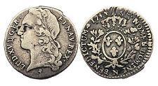 1/10 Ecu 1744 N (Montpellier). Au bandeau. Louis XV°. Argent. France. Qualité!