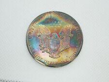 1989 Rainbow Toning Patina American Silver Eagle | .999 Fine Silver