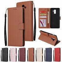 For Samsung Galaxy J2 Pro J3 J4 J5 J6 J7 J8 Luxury Leather Wallet Case Cover