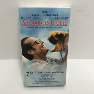 AS GOOD AS IT GETS: Jack Nicholson Helen Hunt (Comedy) VHS ***NEW & SEALED***