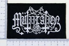 Mutiilation 01 embroidered patch, thermal glue on the back