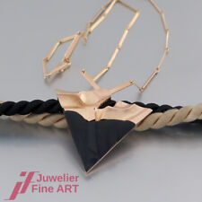 LAPPONIA Halskette/Collier - Fantasiemuster - Onyx - 14K/585 Gelbgold