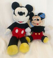 Disney Mickey Mouse Plush Lot Of 2 Set Good Condition