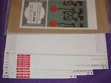 KNITTING MACHINE ACCESSORY'S PUNCH CARDS FOR STANDARD GAUGE MACHINES SERIES 59