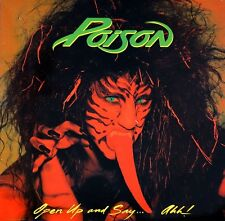 Poison - Open Up And Say..Ahh Vinyl LP Hair Metal Sticker, Magnet