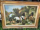 Kruger Equestrian Oil Painting Framed