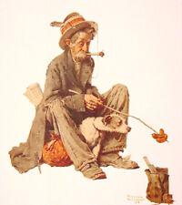 New ListingHobo And Dog Norman Rockwell 8x10 Poster Fine Art Print Artist