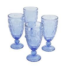Set of 4 Drinking Glasses 14.7 Oz Teal Tea Goblet Drinkware Dishwasher Safe