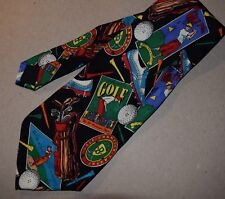 BEAUTIFUL 100 % SILK TIE FOR YOUR FAVORITE GOLFING DAD! FROM ADDICTION