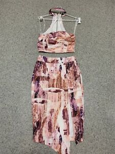 ally womens skirt and top sz 6 (lc16)