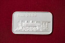 1oz ~ One Troy Ounce Silver .999 Bar ~ Class Q 4-6-2 Locomotive Train ~