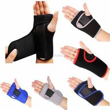 AU Wrist Support Hand Brace Band Arthritis Carpal Tunnel Thumb Splint Straps