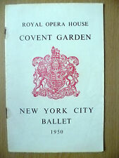 New York City BALLET Programme 1950- Jinx/Prodigal Son/Bourree Fantasque
