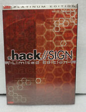 .hack // Sign Limited Edition DVD Ver 3 Gestalt Outcast with CD(Factory Sealed)