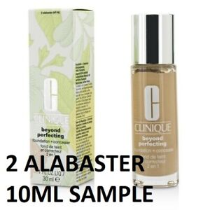 CLINIQUE BEYOND PERFECTING FOUNDATION 2 ALABASTER VF-N 10ML SAMPLE FRESH