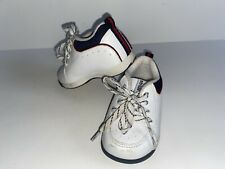 Stride Rite Toddler White Leather Lace Ups Size 3.5 XW Extra Wide Baby Toddler
