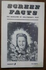 SCREEN FACTS - ISSUE #5 (1963) - DEANNA DURBIN, ROY ROGERS, GENE AUTRY, MORE