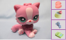 LITTLEST PET SHOP #2138 PINK PERSIAN CAT GREEN EYES KITTY+1 FREE Access. Authen