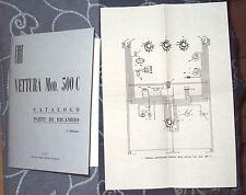 Manuale catalogo parti di ricambio FIAT 500 C TOPOLINO anni 1949 - 1950