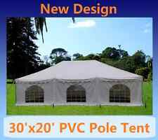 PVC Pole Tent 30'x20' - Party Wedding Tent Canopy Gazebo Shelter - White