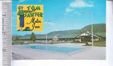 1950s used post card TOM SAWYER MOTOR INNS, ELMIRA, NY, ALBANY, NY