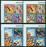 Burundi 477-478, C216-C217, MNH, Space. s8984