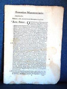 BONONIENSIS MANUTENTIONIS.ET ATTENTATORUM.PRO M.G. ANTONIO GASPARE DAVIA. CUM D.