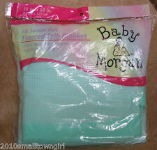 Baby Morgan Aqua Crib Blanket