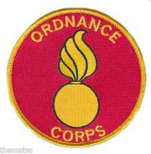 """ARMY ORDNANCE CORPS   4"""" EMBROIDERED MILITARY BRANCH  PATCH"""