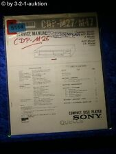Sony Service Manual CDP M26 CD Player (#5114)