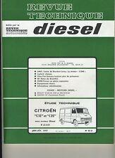 (2B)REVUE TECHNIQUE DIESEL CITROEN C32 et C35 moteur diesel B22/615